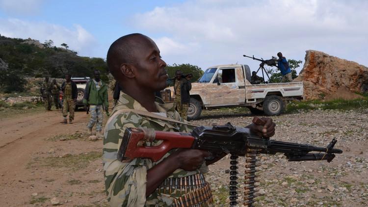 الجنود الصوماليون يحتجون على عدم صرف رواتبهم