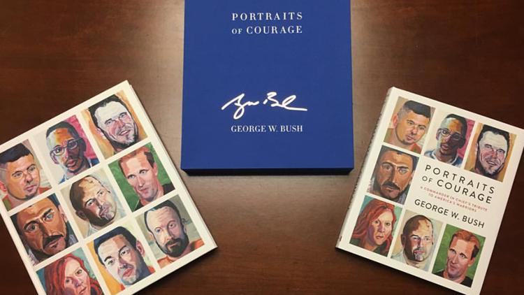 ألبوم رسومات جورج بوش الابن يتصدر المبيعات في الولايات المتحدة