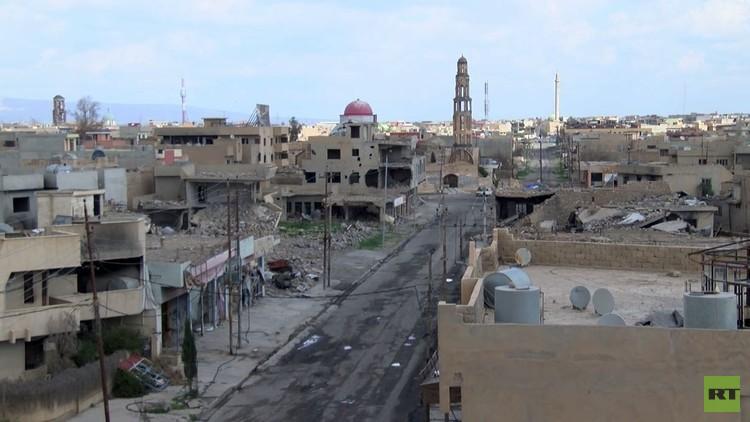 داعش سوّت مدينة قراقوش العراقية المسيحية بالأرض (فيديو)