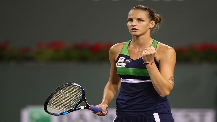 التشيكية بليسكوفا تتأهل إلى نصف نهائي بطولة إنديان ويلز