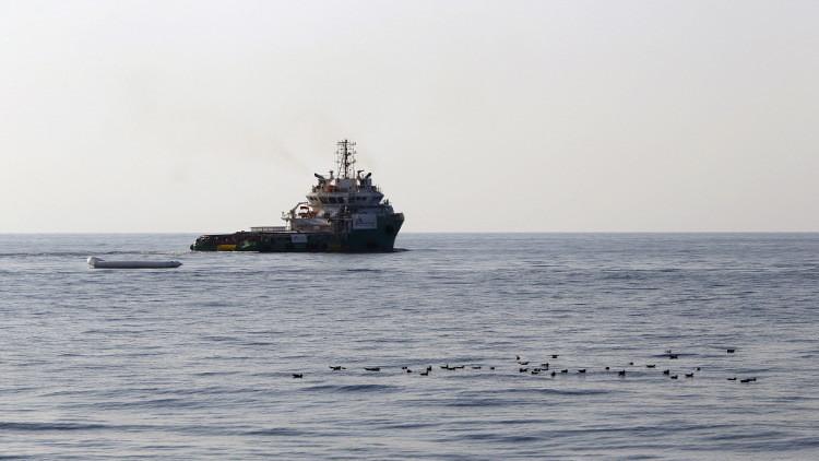 غرق سفينة شحن تركية قبالة السواحل الليبية