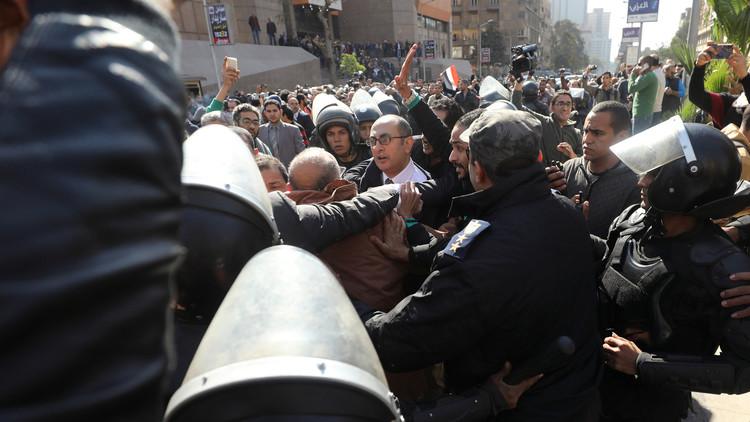 إضراب المحامين المصريين أمام محاكم الجنايات