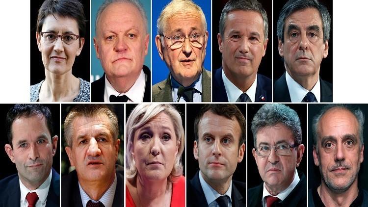 11مرشحا رسميا للدورة الأولى من الانتخابات الرئاسية الفرنسية