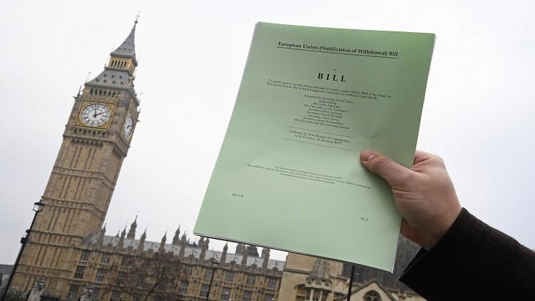 لندن تحدد موعد البدء بإجراءات