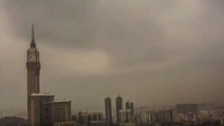 عاصفة رملية في السعودية