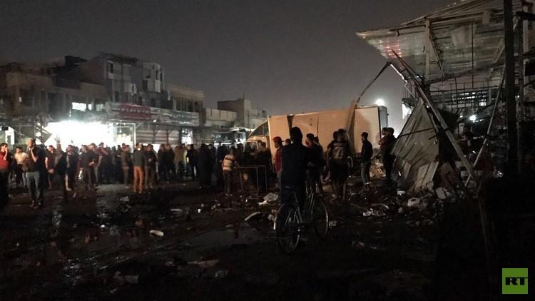 عشرات القتلى والجرحى بتفجيرات بغداد
