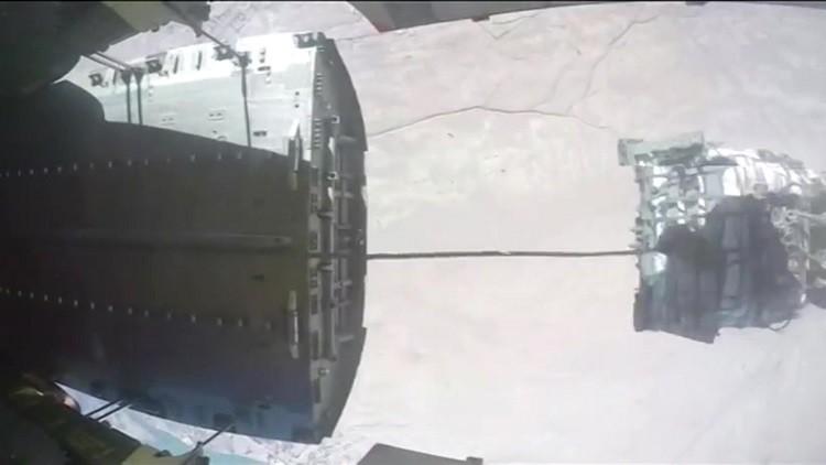 الطائرات الروسية تنزل 20 طنا من المساعدات لدير الزور