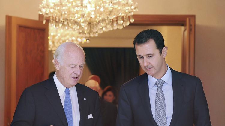 دمشق تشرح أسباب رفضها استقبال دي ميستورا