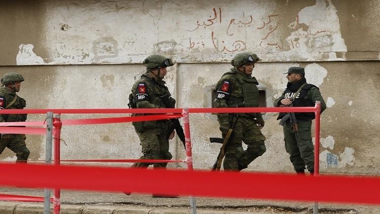 الشرطة العسكرية الروسية تدرب جنودا سوريين