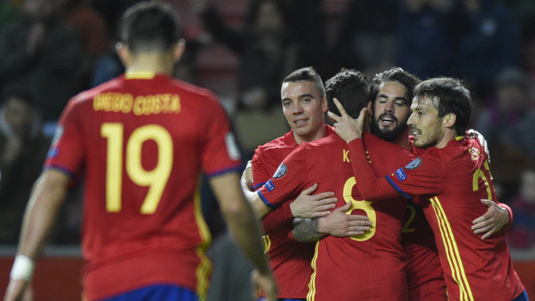 إسبانيا تتغلب على إسرائيل برباعية