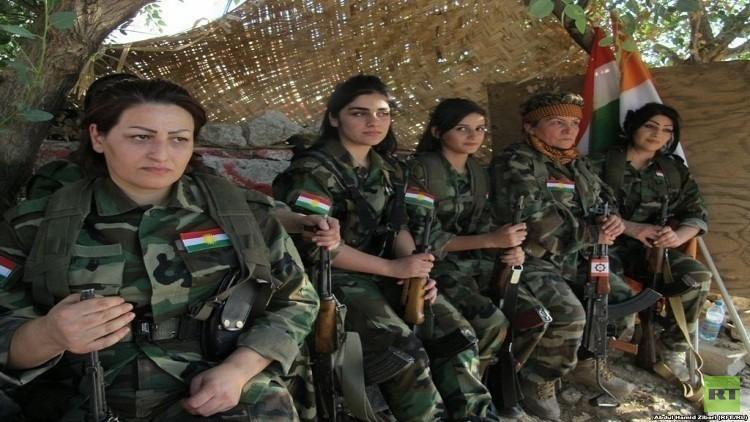 الفصائل النسائية الكردية في طليعة المحاربين