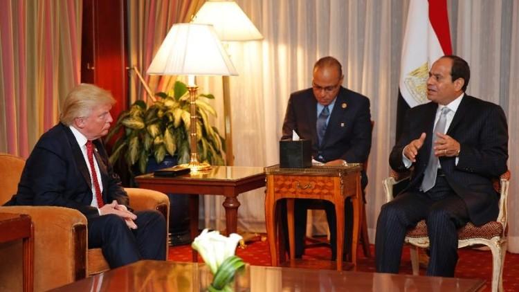 ترامب يعتزم استئناف العلاقات العسكرية مع مصر