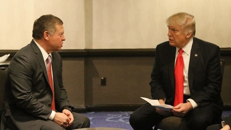 ترامب سيبحث مع العاهل الأردني موضوع اللاجئين السوريين