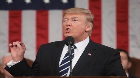 الرئيس الأمريكي دونالد ترامب في أول خطاب أمام الكونغرس