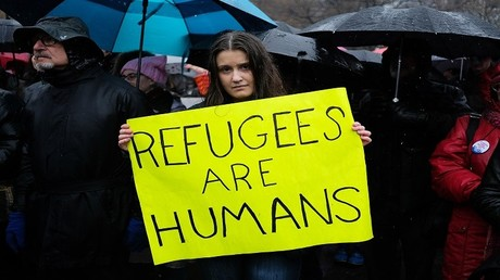 احتجاجات ضد قرار ترامب منع اللاجئين من دخول الولايات المتحدة - نيويورك 12 فبراير 2017