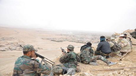 عناصر من الجيش السوري  (صورة من الأرشيف)