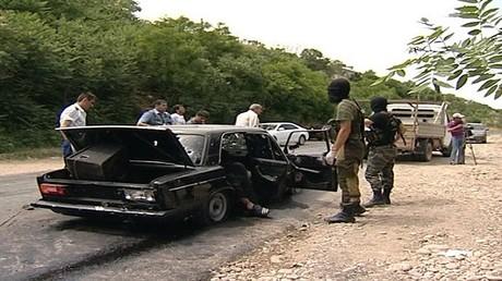 صورة من الارشيف لعملية امنية في دربند بداغستان