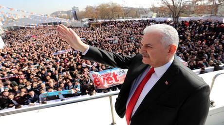رئيس الوزراء التركي بن على يلدريم (صورة أرشيفية)