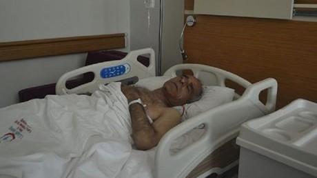 الطيار السوري داخل مستشفى تركي