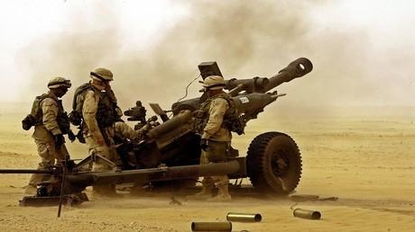 أرشيف - جنود أمريكيون في الصحراء الكويتية 7 مارس 2003