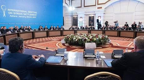 جولة المفاوضات بشأن التسوية السورية في أستانا في 27 يناير/كانون الثاني 2017