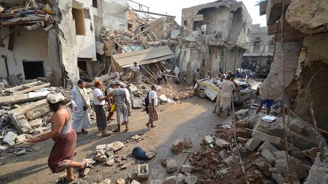 موقع لغارة جوية نفذتها طائرات سعودية على مدينة الحديدة اليمنية (22 سبتمبر/أيلول من العام 2016)