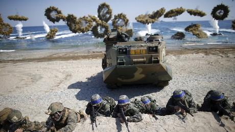 """تدريبات """"Key Resolve"""" الكورية الجنوبية الأمريكية المشتركة (مارس/آذار 2016)."""