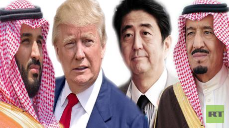 الملك سلمان، شنزو آبي، دونالد ترامب، محمد بن سلمان