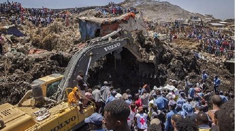 انهيار مكب نفايات في إثيوبيا