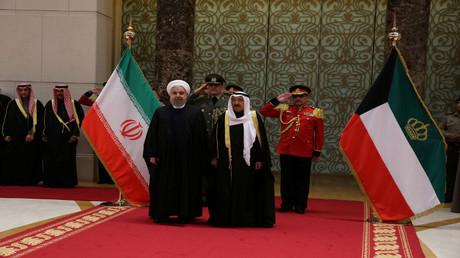 أمير الكويت والرئيس الإيراني