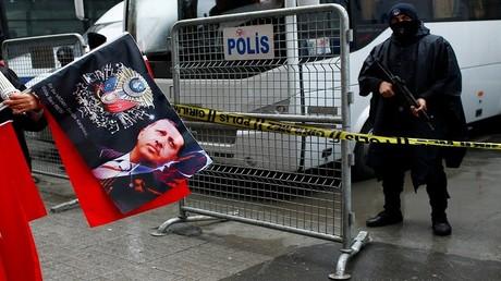 احتجاجات أمام القنصلية الهولندية في اسطنبول - تركيا، 12 مارس 2017
