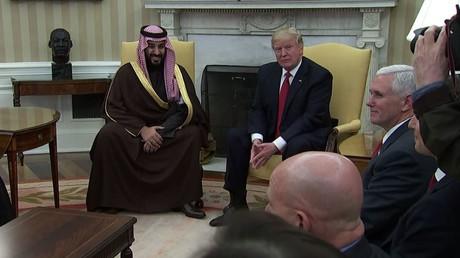 ولي العهد السعودي يلتقي الرئيس الأمريكي