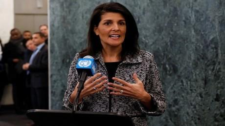مندوبة الولايات المتحدة الدائمة لدى الأمم المتحدةنيكي هيلي