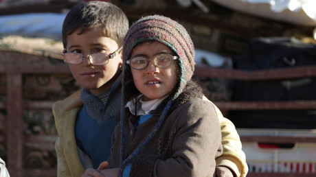أطفال نازحون في سوريا
