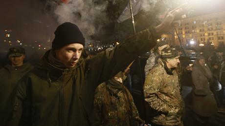 مسيرة للقوميين الأوكرانيين في كييف
