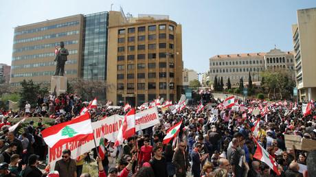 مظاهرات احتجاجية في بيروت ضد الفساد في الحكومة
