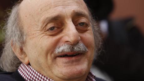 الزعيم الدرزي اللبناني وليد جنبلاط