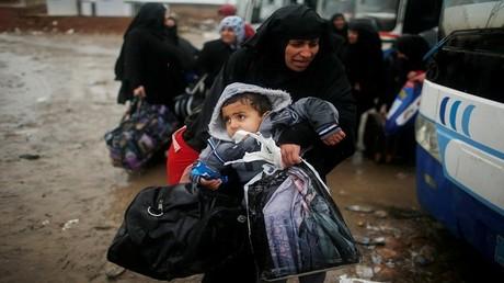 نزوح أهالي غرب الموصل