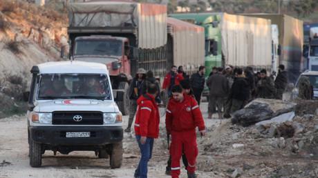 مساعدات إنسانية أممية إلى سوريا