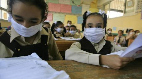 تلميذات مصريات في المدرسة - أرشيف