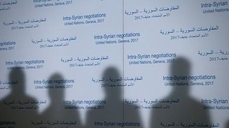 أرشيف - مؤتمر صحفي أثناء محادثات السلام السورية في جنيف - سويسرا 27 فبراير/شباط 2017