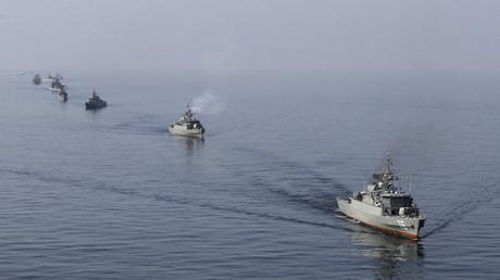 سفن إيرانية في مضيق هرمز