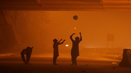 تلوث الجو في نيودلهي، الهند، 6 نوفمبر 2016