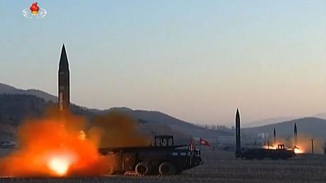 أرشيف - عملية إطلاق صواريخ بالستية كورية شمالية