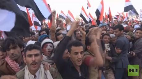 مئات الآلاف يتظاهرون بصنعاء ضد