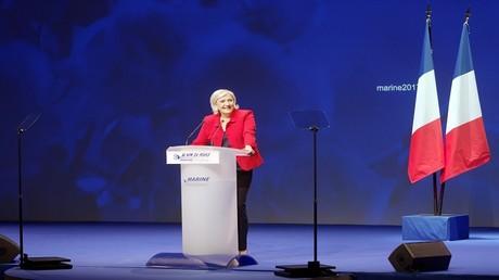 المرشحة الرئاسية الفرنسية مارين لوبان -  ليل، فرنسا، 26 مارس 2017