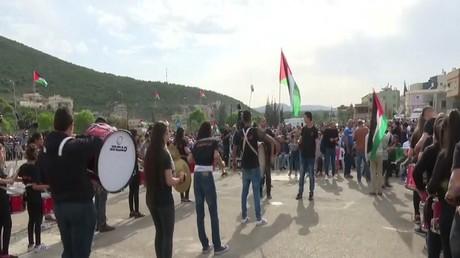 الفلسطينيون يحيون الذكرى 41 ليوم الأرض