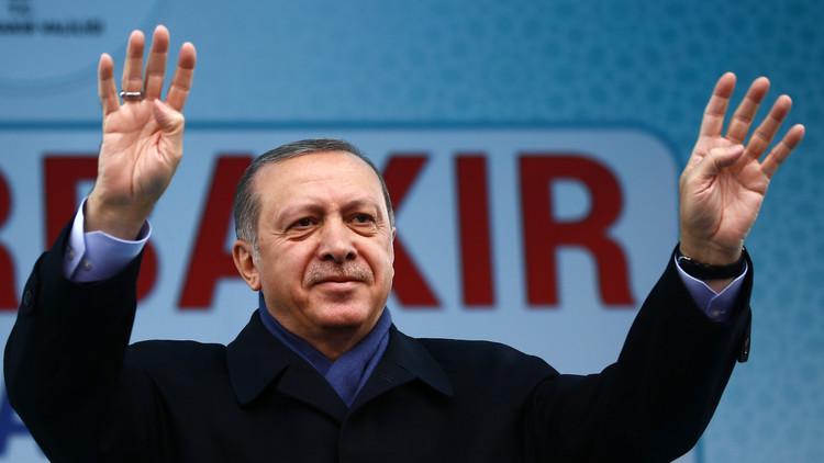 أردوغان: نحن حماة السلام