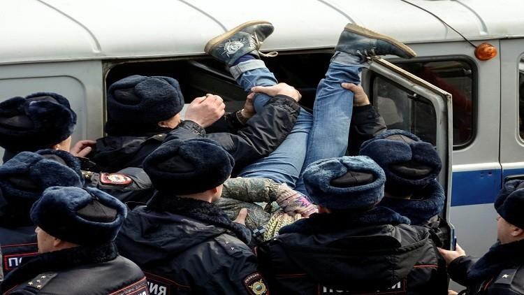 موسكو.. توقيف 31 شخصا شاركوا في فعاليات غير مرخصة