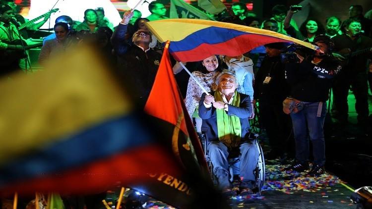لينين يفوز بانتخابات الرئاسة في الإكوادور
